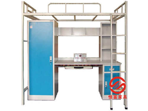 单人公寓床配单门衣柜书台