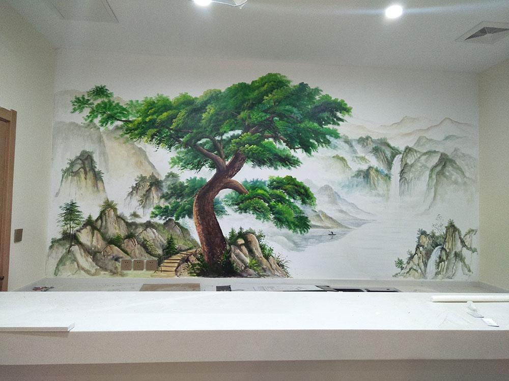 美容院墙绘