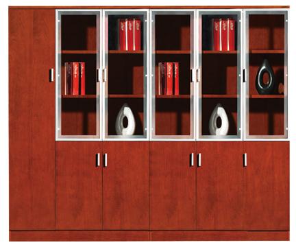 实木材质多列多层办公文件柜