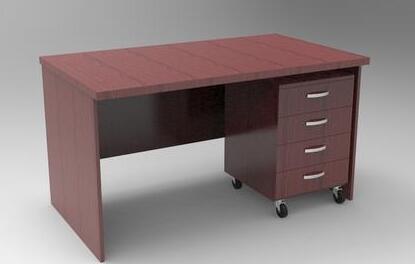 重庆办公家具红棕色电脑桌