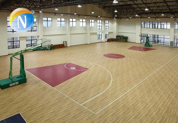 运动塑胶地板结构