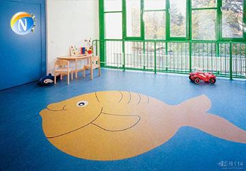 儿童塑胶地板施工