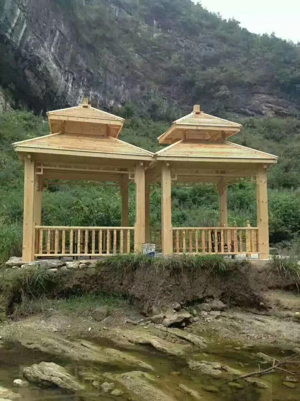 防腐木木屋凉亭