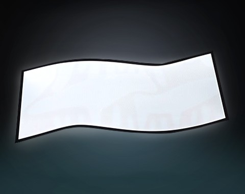 异形展示柜发光板