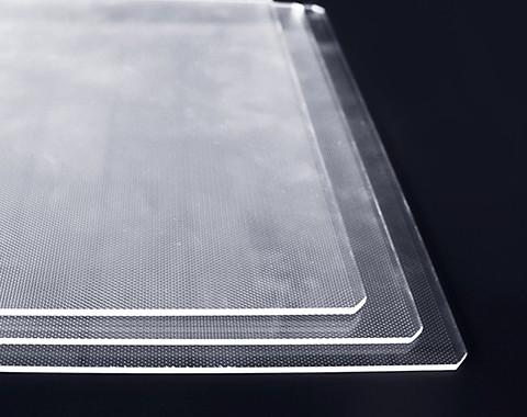 非标尺寸导光板研制