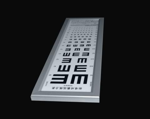 医用视力表导光板