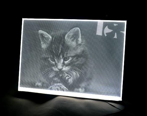 人物图案导光板