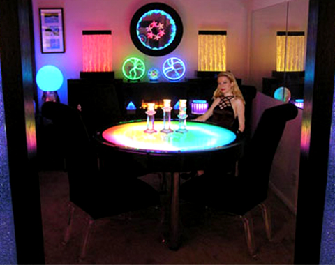 酒店吧台餐厅氛围发光隔板导光板