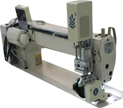 Long arm sewing machine electronic puller