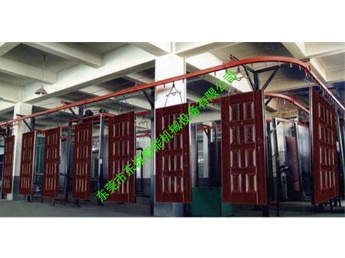 懸掛式門板噴粉生產線