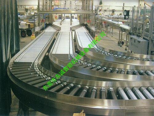 不鏽鋼灌裝滾筒輸送線
