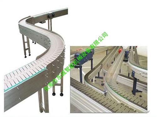鏈板輸送線轉彎機構