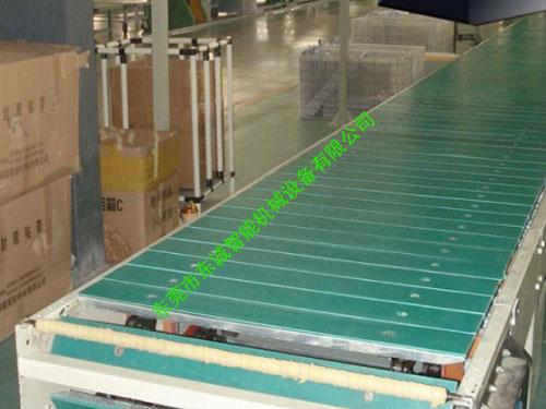 輸送鏈板上貼膠皮