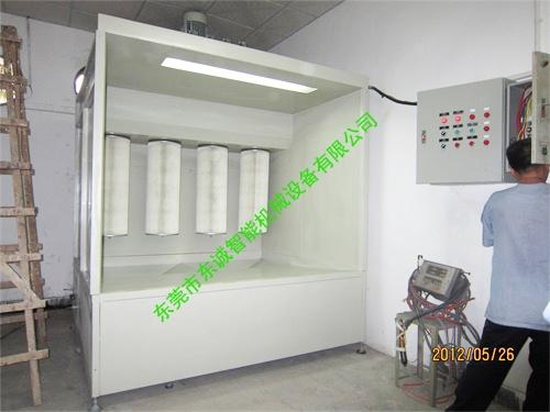 單工位噴粉櫃