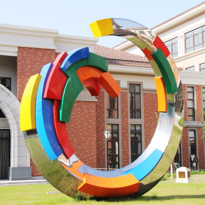 成都学校不锈钢雕塑订制