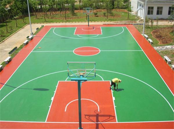 硅PU球场材料篮球场