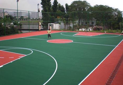 武汉丙烯酸篮球场