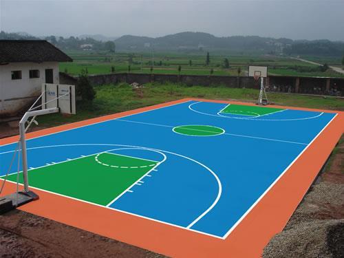 武汉篮球场硅pu材料