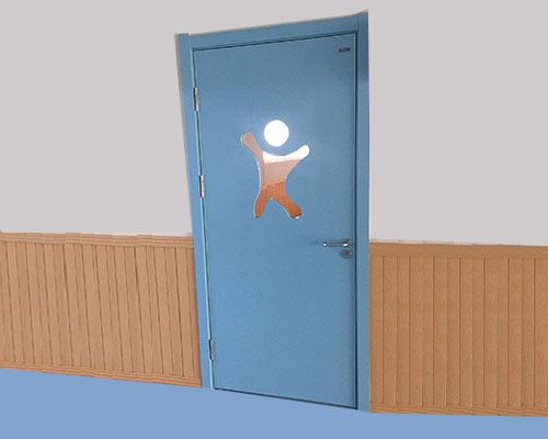 蓝色幼儿园专用门