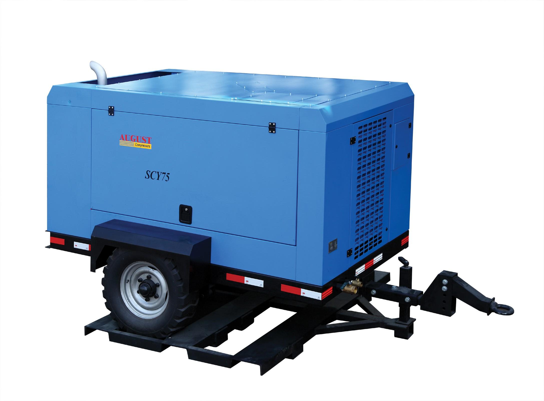 柴油移动螺杆空气压缩机