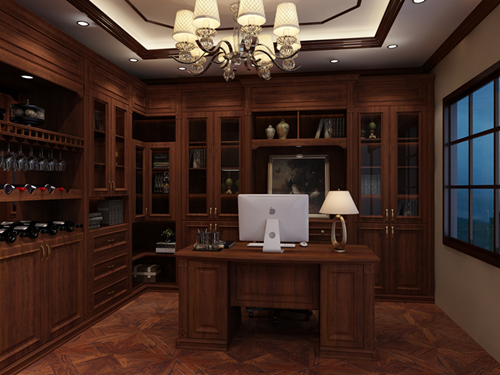 书房+吧台(效果图)