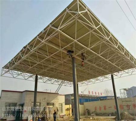 云南加油站罩棚网架