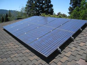 太阳能光伏支架油毡瓦屋面图片