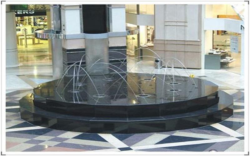 商场漂浮喷泉