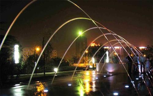小区广场漂浮喷泉案例
