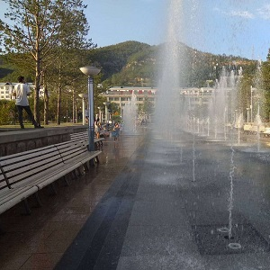 延安枣园广场音乐喷泉维修改造工程
