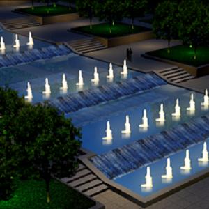 延安新区博物馆喷泉设计方案