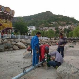 延安欢枣园乐世界音乐喷泉工程