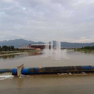 蓝田县灞河漂浮喷泉