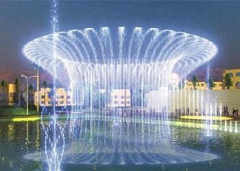 别墅漂浮喷泉