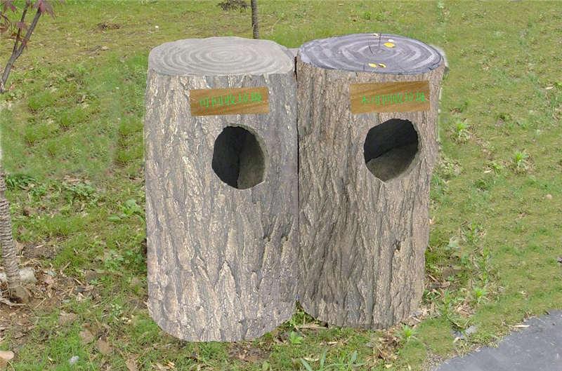 重庆仿木垃圾桶