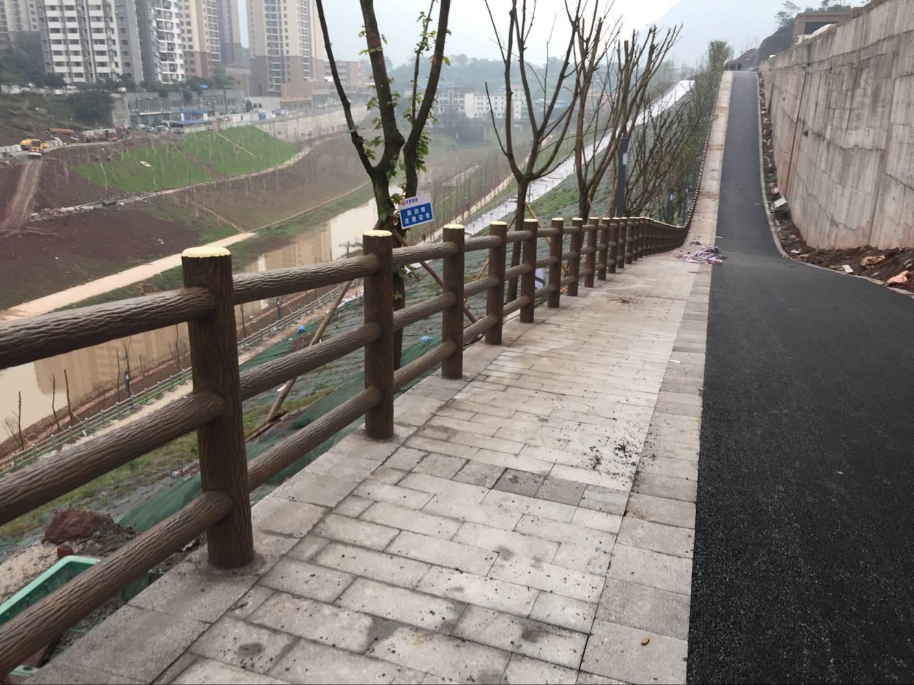 重庆水泥仿木护栏