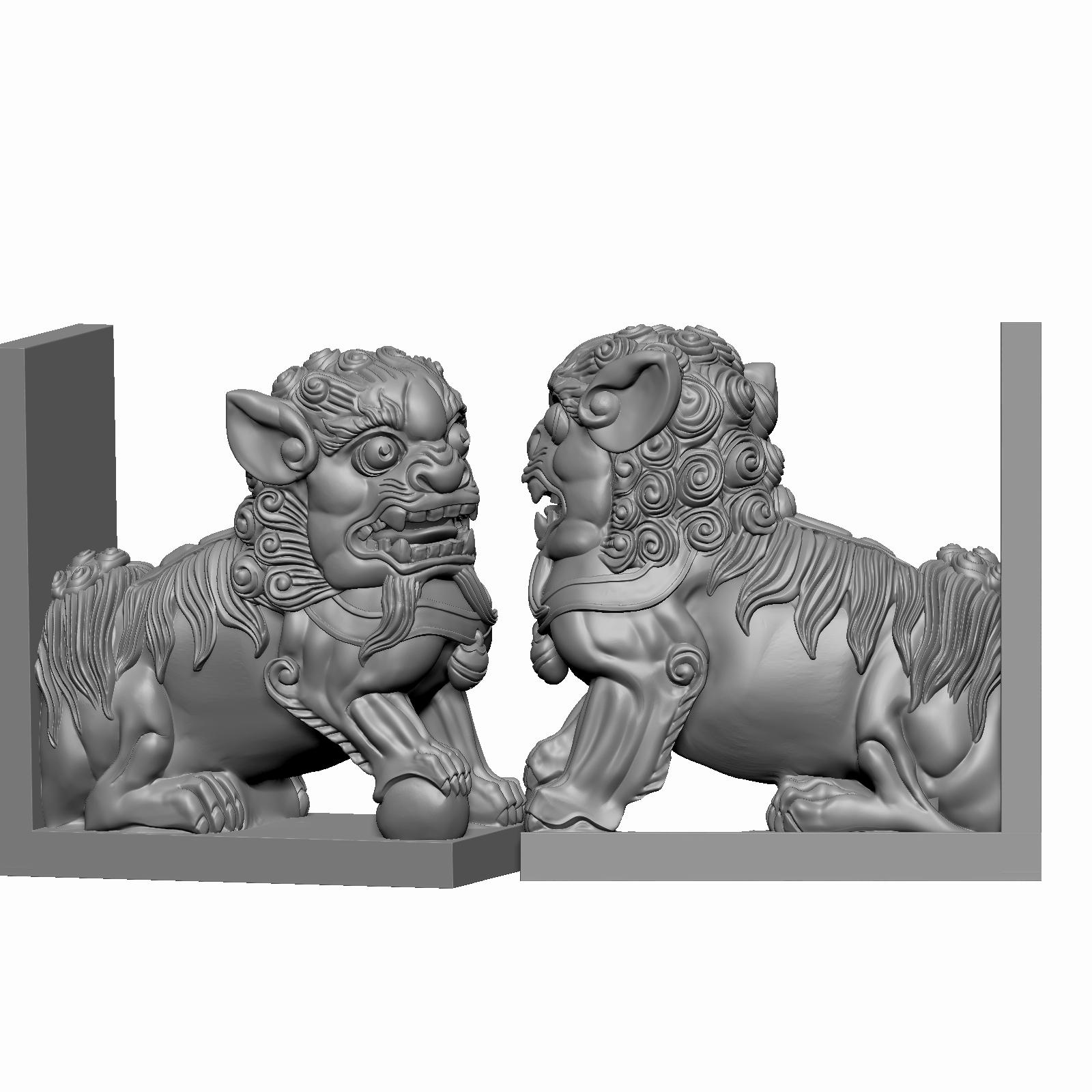 恒泰圆雕班狮子