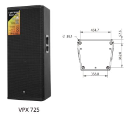 JBL VPX725 雙十五 演出音響