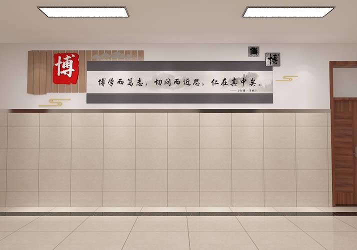 石家庄市某学校廊道文化墙