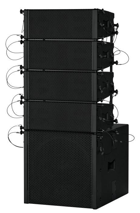 Q204A双4寸线阵配套低音炮(内置D类DSP功放板)