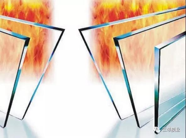 玻璃防火液膜