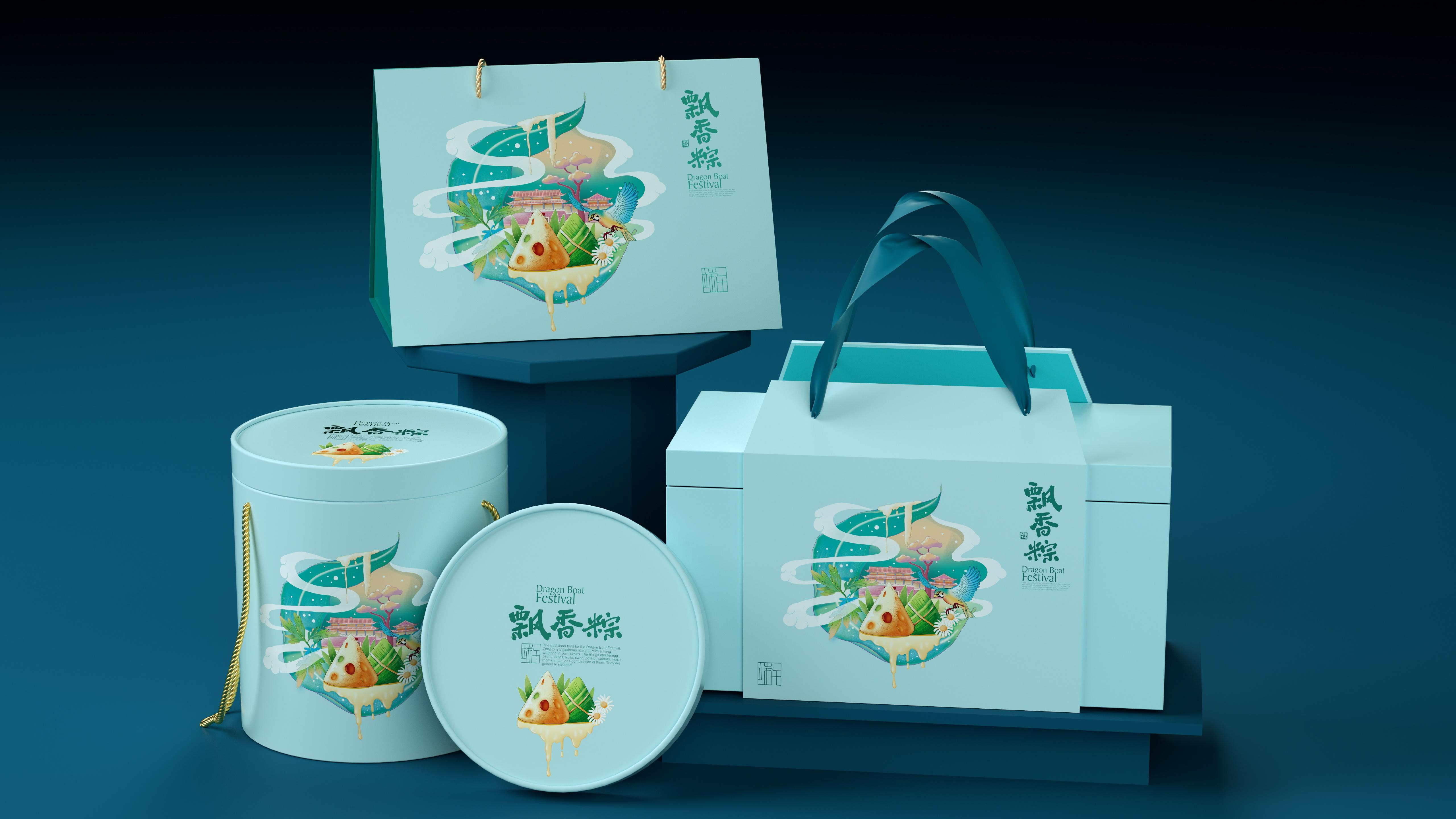 圆形粽子盒