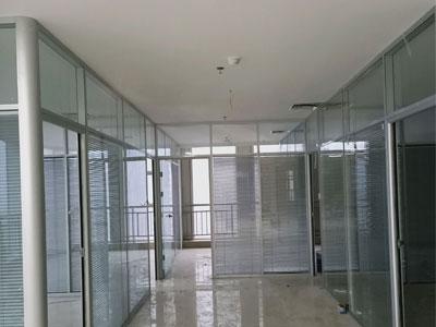 石家庄双层玻璃隔断安装
