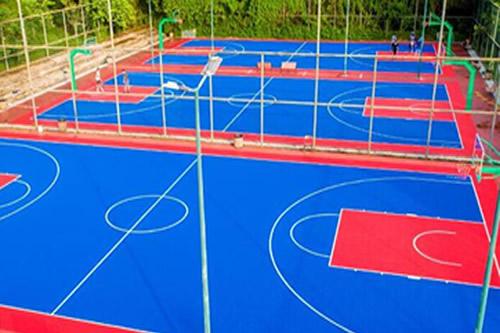 篮球场悬浮式拼装地板