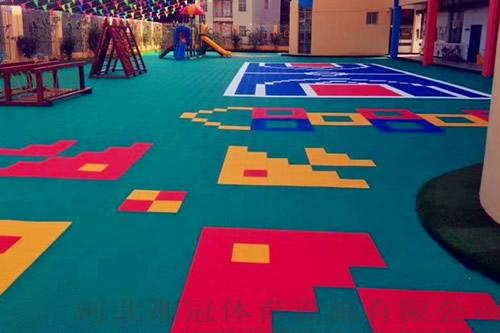 拼装悬浮式篮球地板