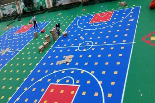 悬浮式拼装运动地板球场
