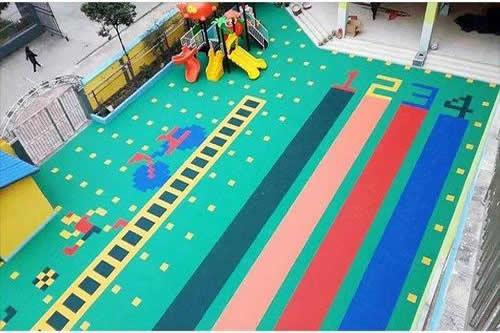 悬浮式拼装地板跑道