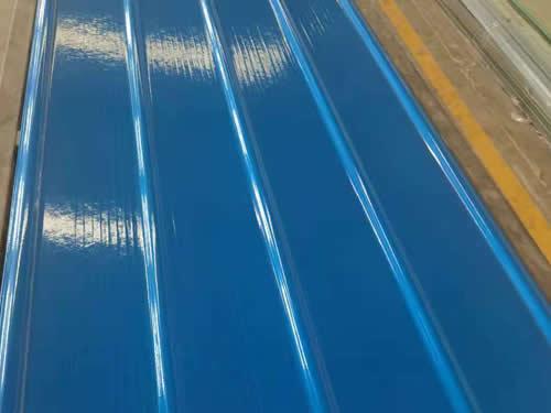 蓝色防腐采光瓦