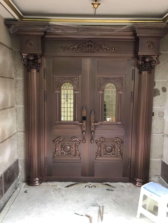 对开铜门保养