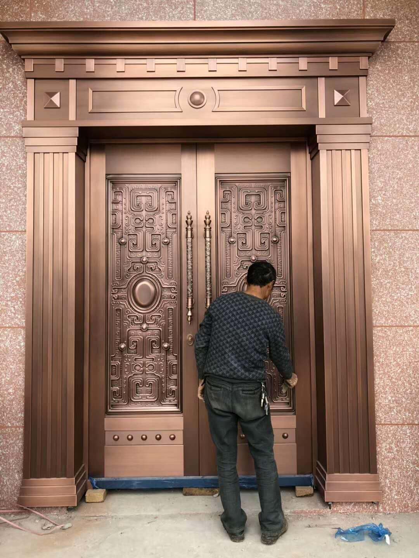 对开铜门设计